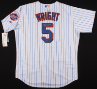 David Wright Signed New York Mets Majestic Jersey (Steiner Hologram, MLB Hologram, & Wright Hologram)