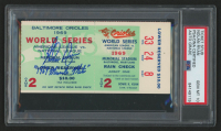 """Nolan Ryan Signed 1969 New York Mets vs Baltimore Orioles """"World Series Game 2"""" Ticket Stub Inscribed """"1969 Miracle Mets"""" (PSA Encapsulated)"""