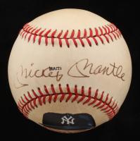 Mickey Mantle Signed OAL Painted Baseball (PSA Hologram)