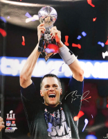 Tom Brady Signed New England Patriots LE 40x50 Photo (TriStar & Steiner Hologram)