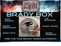 "WSD ""Brady Box"" Mystery Helmet Box - Autographed Football Helmet Series"