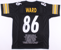 Hines Ward Signed Pittsburgh Steelers Career Highlight Stat Jersey (Beckett COA)