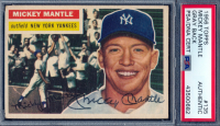 Mickey Mantle Signed 1956 Topps #135 (PSA Encapsulated)