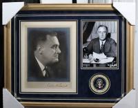 Franklin D. Roosevelt Signed 17x21 Custom Framed Photo Display (JSA LOA)