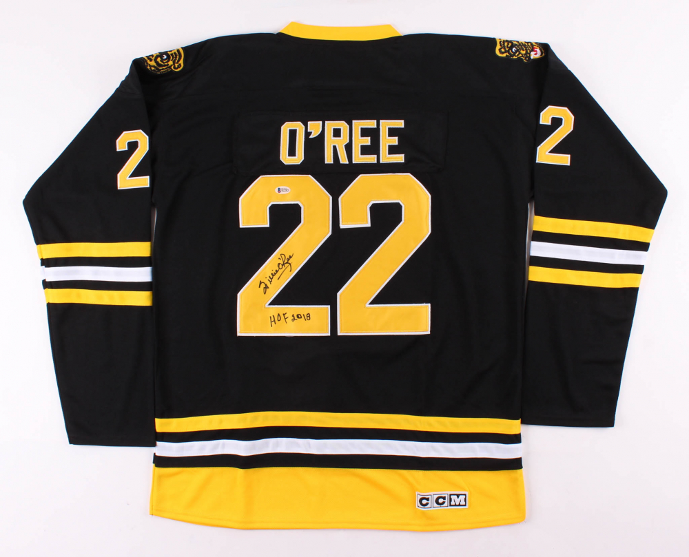 "Willie O'Ree Signed Boston Bruins Jersey Inscribed ""HOF ..."