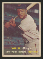 1957 Topps #10 Willie Mays at PristineAuction.com