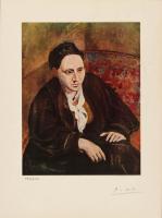 "Pablo Picasso Signed ""Gertrude Stein"" LE 11.75x14.5 Original Lithograph Print (Royal Palace COA)"