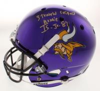"""Irv Smith Jr. Signed Minnesota Vikings Chrome Full-Size Helmet Inscribed """"Straight Respect Homie"""" (Beckett COA)"""