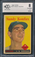 1958 Topps #187 Sandy Koufax (BCCG 8)