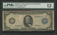1914 $50 Fifty Dollars Federal Reserve Note - Boston (PMG 12)