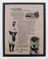 "Lou Gehrig ""Yankee Stadium Farewell Speech"" 8x10 Commemorative Photo Plaque"