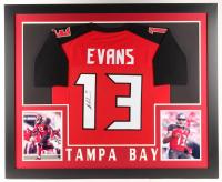 Mike Evans Signed 35x43 Custom Framed Jersey (JSA COA)