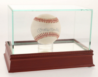 Mickey Mantle Signed OAL Baseball with Display Case (JSA LOA)
