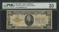 1928 $20 Twenty Dollars U.S. Gold Certificate Currency Bank Note Bill (PMG 25)