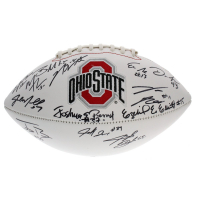 2014 Ohio State Buckeyes National Champions Logo Football Team-Signed by (14) with Ezekiel Elliot, Joshua Perry, Von Bell, Jacoby Boren (Sports Collectibles Hologram)