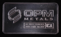 10 Troy Ounce .999 Fine Silver OPM Metals Bullion Bar