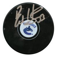 Bo Horvat Signed Vancouver Canucks Logo Hockey Puck (JSA Hologram)
