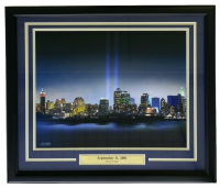 New York City September 11th 2001 Remembrance Sky Line 22x27 Custom Framed Photo Display at PristineAuction.com
