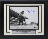 Ron Turcotte Signed 1973 Belmont Stakes 14x17 Custom Framed Photo Display (Beckett COA)