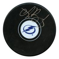 Andrei Vasilevskiy Signed Tampa Bay Lightning Logo Hockey Puck (JSA Hologram)