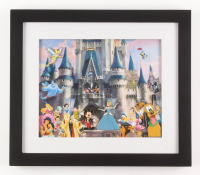 "50th Anniversary ""Disneyland"" 13x15 Custom Framed Print Display with Vintage Pin Set"