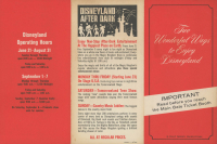 Vintage Disneyland Information Pamphlet
