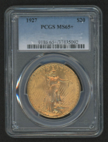 1927 $20 Saint-Gaudens Double Eagle Gold Coin (PCGS MS 65+)