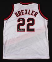 Clyde Drexler Signed Portland Trail Blazers Jersey (Beckett COA)