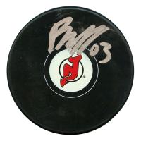 Jesper Bratt Signed New Jersey Devils Logo Hockey Puck (JSA Hologram)