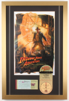 "Disneyland ""Indiana Jones Adventure: Temple of the Forbidden Eye"" 17.5x26 Custom Framed Poster Print with Ticket Booklet & Lanyard"