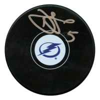Dan Girardi Signed Tampa Bay Lightning Logo Hockey Puck (JSA Hologram)