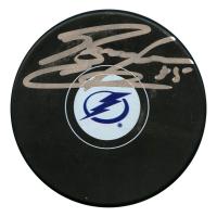 Braden Coburn Signed Tampa Bay Lightning Logo Hockey Puck (JSA Hologram)