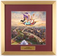 "Thomas Kinkade Walt Disney's ""Aladdin"" 17.5x18 Custom Framed Print"