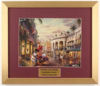 "Thomas Kinkade Walt Disney's ""Mickey and Minnie in Beverly Hills"" 15.5x18 Custom Framed Print"