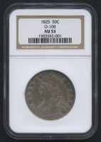1825 50¢ Capped Bust Half Dollar - O-108 (NGC AU 53)