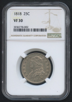 1818 25¢ Capped Bust Quarter (NGC VF 30)