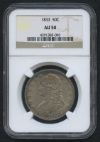 1833 50¢ Capped Bust Half Dollar (NGC AU 50)