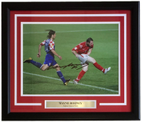 Wayne Rooney Signed Manchester United 16x20 Custom Framed Photo Display (A1 Sporting Memorabilia COA)