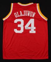 """Hakeem Olajuwon Signed Houston Rockets """"The Dream"""" Jersey (Beckett COA)"""