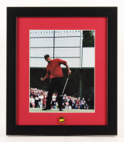 Tiger Woods 13x15 Custom Framed Photo Display with Official Masters Pin