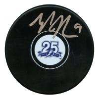 Tyler Johnson Signed Tampa Bay Lightning 25th Anniversary Logo Hockey Puck (JSA Hologram)