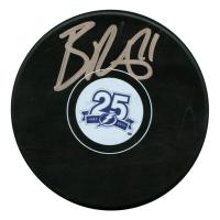 Brayden Point Signed Tampa Bay Lightning 25th Anniversary Logo Hockey Puck (JSA Hologram)