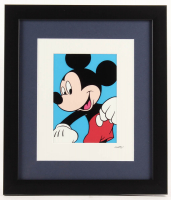 "Walt Disney's ""Mickey Mouse"" 13x15 Custom Framed Hand-Painted Animation Serigraph Display"