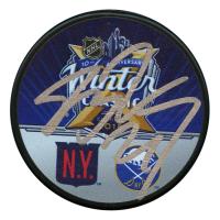 Jimmy Vesey Signed 2018 Winter Classic Logo Hockey Puck (JSA Hologram)