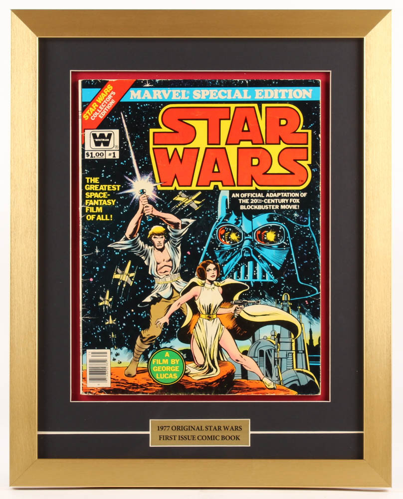 """Marvel Special Edition: Star Wars"" Issue #1 16x20 Custom Framed Comic Book Display at PristineAuction.com"