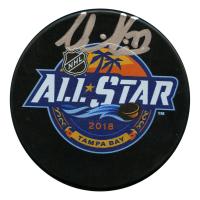 Victor Hedman Signed 2018 NHL All Star Game Logo Hockey Puck (JSA Hologram)