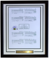 Jack Nicklaus Signed 16x20 Custom Framed Scorecard Display (Fanatics Hologram & Nicklaus Hologram) at PristineAuction.com