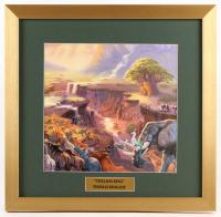 "Thomas Kinkade Walt Disney's ""The Lion King"" 17.5x18 Custom Framed Print Display"