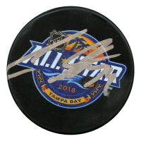 Auston Matthews Signed 2018 NHL All Star Game Logo Hockey Puck (JSA Hologram)