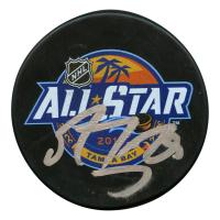 Marc-Andre Fleury Signed 2018 NHL All Star Game Logo Hockey Puck (JSA Hologram)